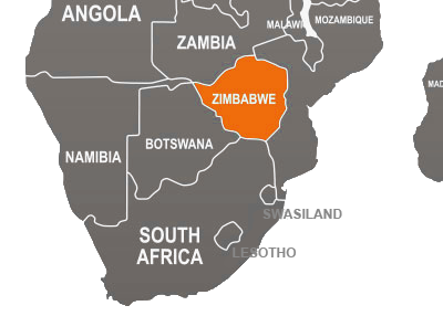 Zimbabwean map